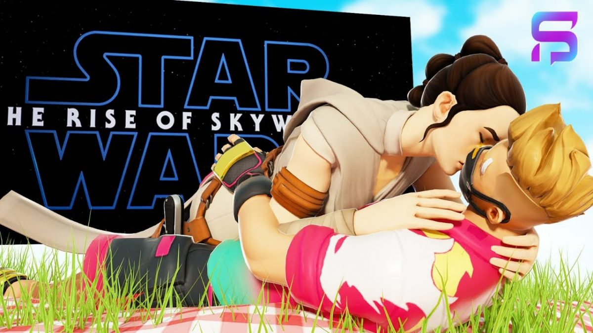 DRIFT & REY SHARE a KISS at the Fortnite X STAR WARS EVENT…